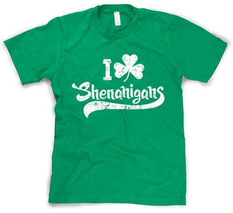 day shirts i clover shenanigans t shirt st patricks day shirt