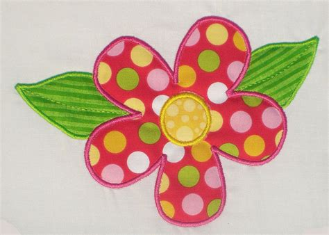 flower applique flower with leaves embroidery design machine applique with