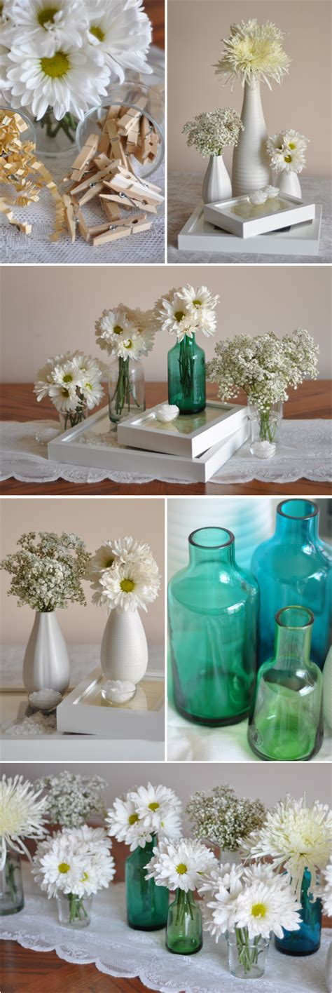 diy cute thrifty ikea centerpieces project wedding