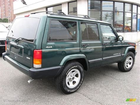 2001 Green Jeep 2001 Forest Green Pearlcoat Jeep Sport 4x4
