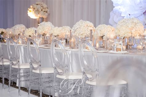 all white decor all white wedding at le parc toronto wedding decor
