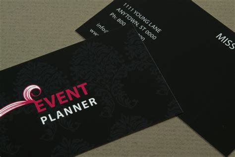 event management business card template event planner business card template inkd