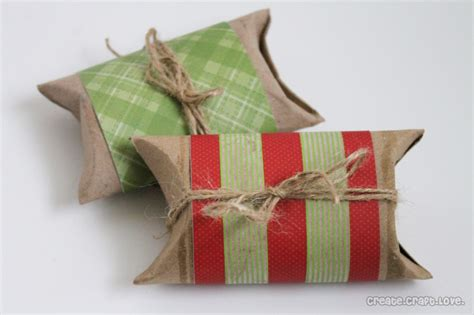 Gift Card Pillow Box Tutorial - toilet paper roll pillow boxes