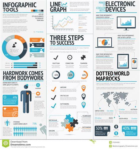 big set of infographic elements vector eps10 stock vector