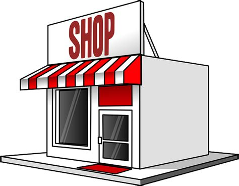 Red Awning Free Vector Graphic Shop Store Sale Shopping Free