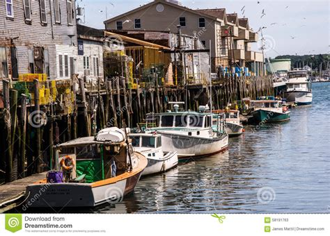fishing boat hay day cost portland maine editorial image cartoondealer 32168198