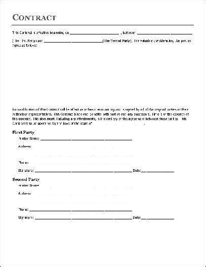 simple independent contractor agreement template simple contractor agreement template simple contract