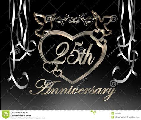25th wedding anniversary stock illustration image of 25th 4037755