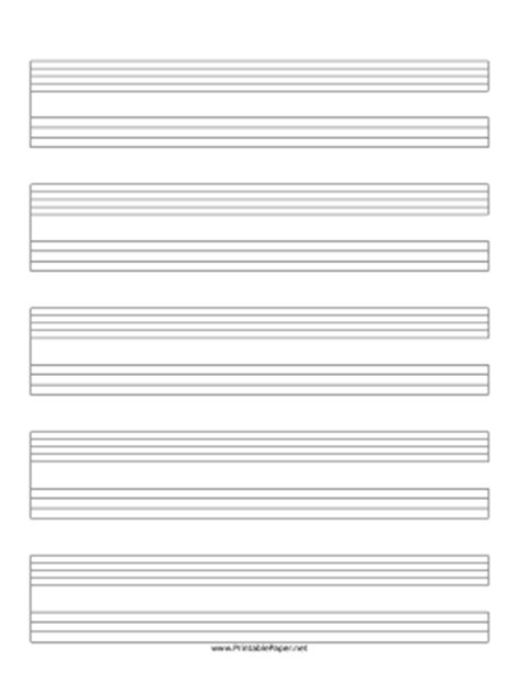 printable lined music paper printable staff and tablature music paper