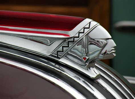 deco car emblem pontiac ornaments consistantly various on the theme of indian chiefs ornaments
