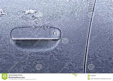 frozen car door stock image image 12828591