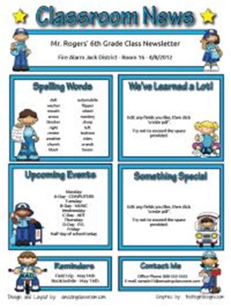25 Best Ideas About Class Newsletter Template On Pinterest Class Newsletter Classroom Class Website Template