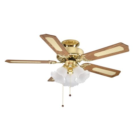 Fantasia Belaire 42in Ceiling Fan Brass Light Fantasia Fantasia Ceiling Fan Lights