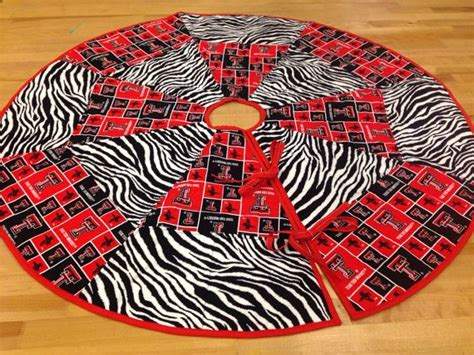 texas tech christmas tree skirt tt quilted tree skirt on etsy 65 00 tech tree skirts