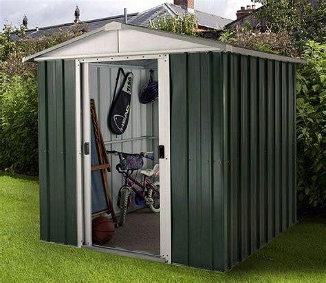 yardmaster    ft emerald deluxe metal shed backyard