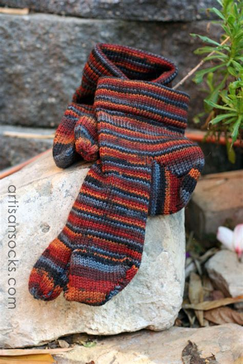 Handmade Knits - handmade knit wool striped tabi socks landfair originals