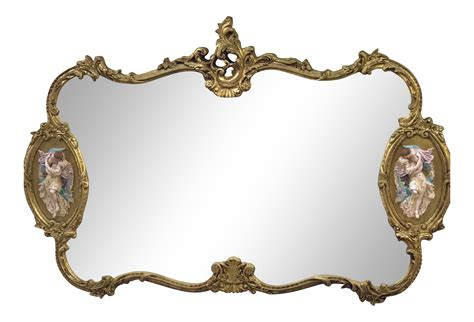 Accent Upholstery Antique Italian Baroque Gold Gilded Mirror Chairish