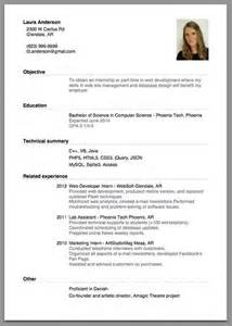 Employment Resume Template by Resume Exles Simple Simple Resume Exles For