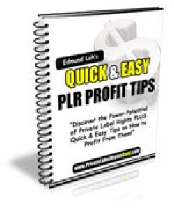 Plr Ebooks With Giveaway Rights - quick easy plr profit tips with giveaway rights download ebooks