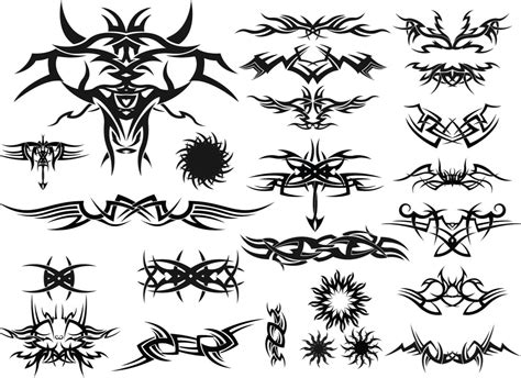 tribal tattoos vector tribal templates vector free