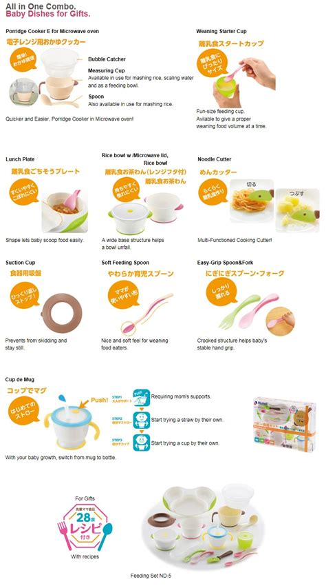 Richell Weaning Starter Set For Baby richell tli series feeding set nd 5 babyonline
