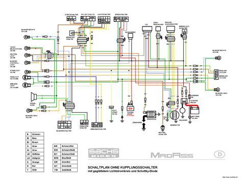 china quad  ccm schaltplan wiring diagram