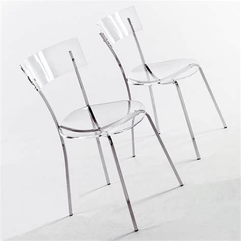 sedie metacrilato sedia moderna di colico design in metallo cromato e