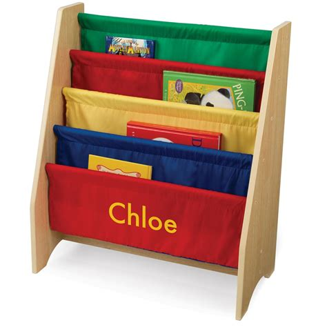 kidkraft 174 personalized primary color sling bookshelf