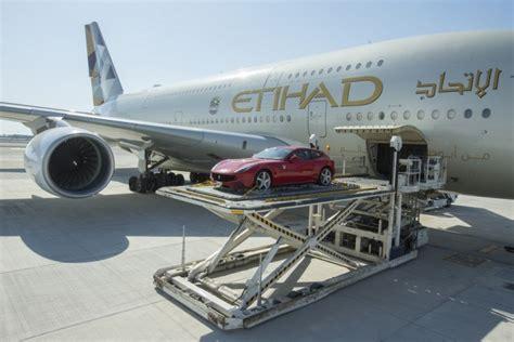 etihad launches luxury car cargo service  summer transport air cargo cargo plane etihad