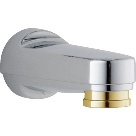 delta pull diverter tub spout in chrome and polished