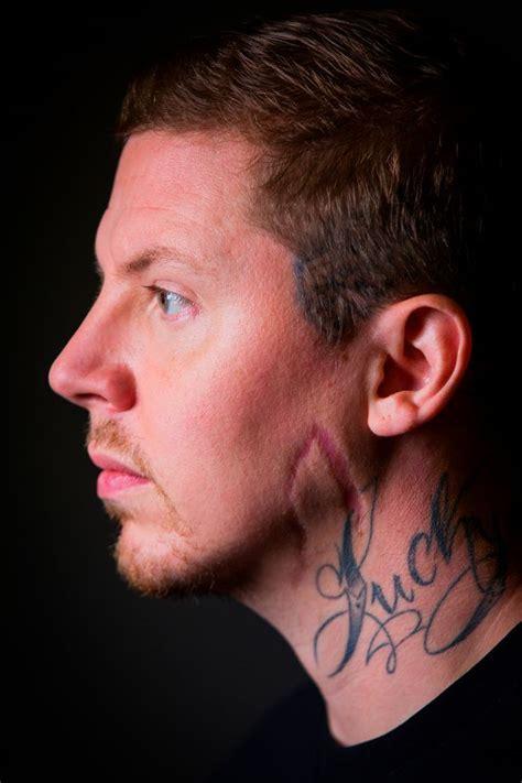 professor green tattoo on neck story professor green tells how trauma teams saved his life