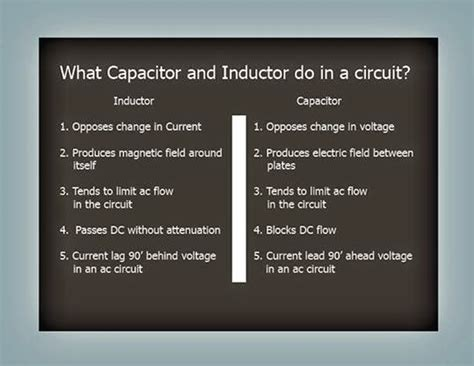 purpose of inductor in electronics electrical engineering world purpose of inductor and capacitor in a circuit
