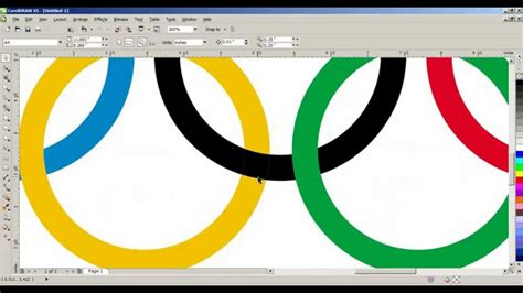 how to design a logo in coreldraw x5 how to create a olympic logo in coreldraw x5 tamil youtube