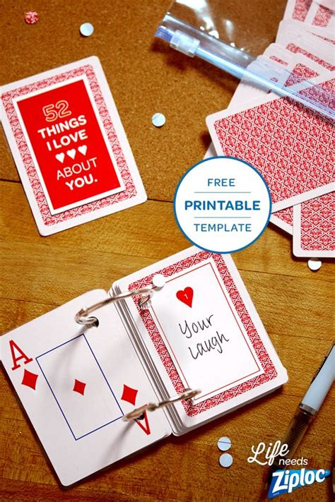 Deck Of Cards Valentines Template by 3 Small But Mighty Ways To Say I You Card Deck