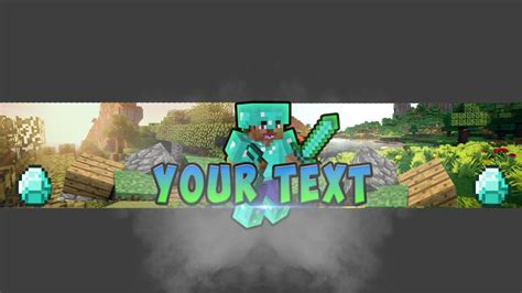 minecraft youtube banner template by modzdoesgraphics on