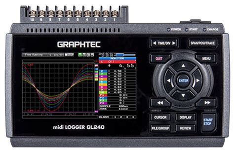Temperature Data Logger Industrial 10 Channel graphtec gl240 midi data logger