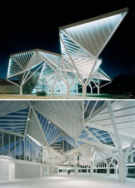 triangle pattern architecture origami inspired architecture 14 geometric structures