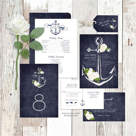 free printable wedding invitations nautical wedding invitation suite printable nautical rose floral