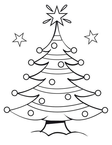 Coloring Page Of Christmas Tree | free printable christmas tree coloring pages for kids