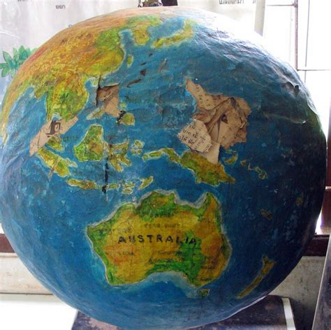 how to make a paper mache globe craft