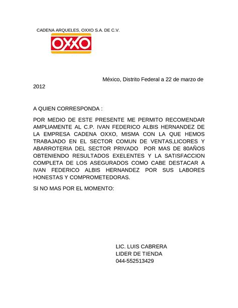carta de recomendacion laboral documents