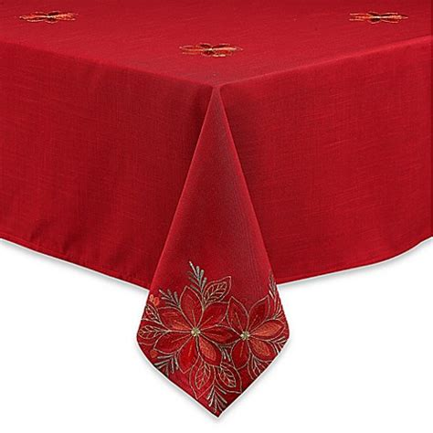 bed bath and beyond tablecloth poinsettia filigree tablecloth bed bath beyond