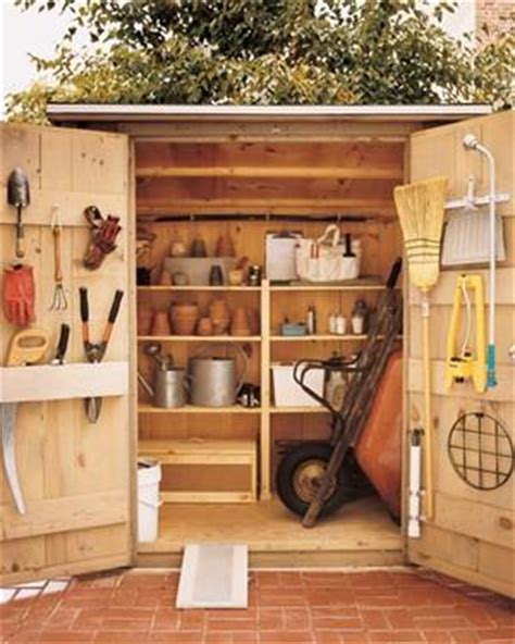 Small Garden Storage Ideas How To Build Garden Shed Shelves