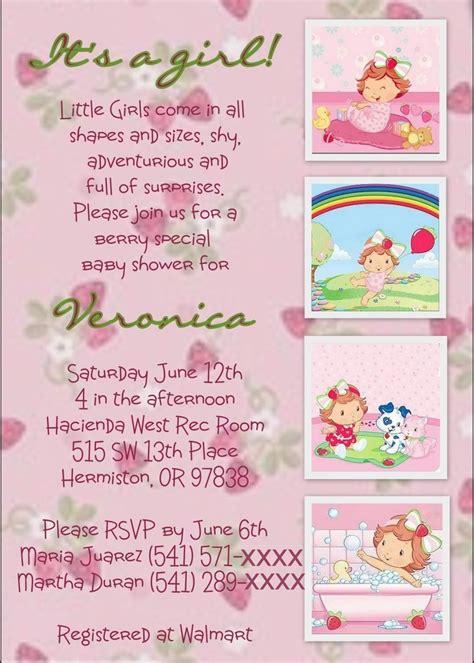 strawberry shortcake baby shower invite baby shower