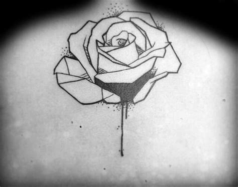 black nice geometric rose tattoo golfian com