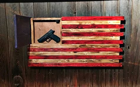 wood american flag gun cabinet wood concealment american flag hidden gun flag american flag