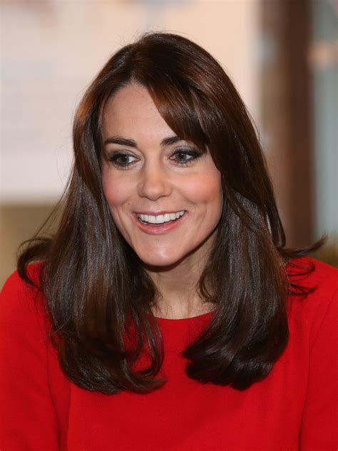 Kate Middleton Long Straight Cut with Bangs   Kate Middleton Hair Looks   StyleBistro