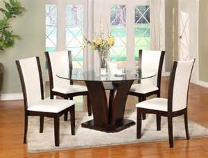 Round Glass Dining Room Sets by Camelia Round Glass Dining Set White Dining Room Sets
