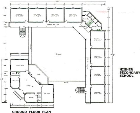 floor plan school school design layout plan modern house