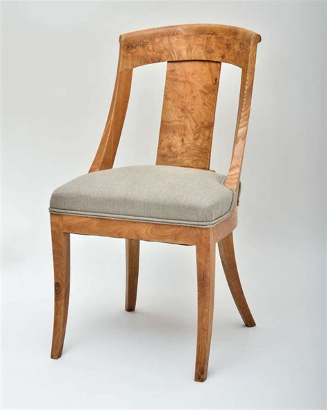 Biedermeier Dining Chairs Set Of Four Early 19th Century Biedermeier Dining Chairs At 1stdibs